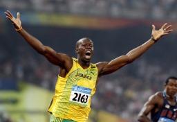 100m Weltrekordhalter, Usain Bolt
